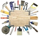 12455431-carpentry-construction-background-tools-underneath-the-wood-plank